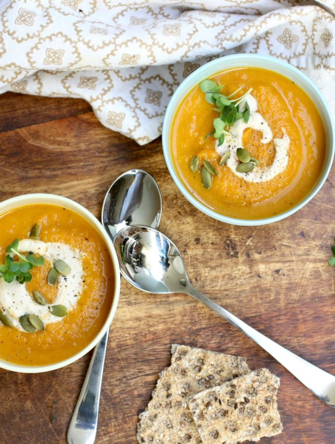 carrot soup with cashew cream
