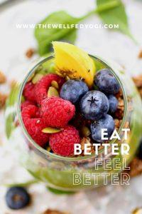 New Year Superfood Parfait, #smoothie #superfood #healthybreakfast #parfait #berries