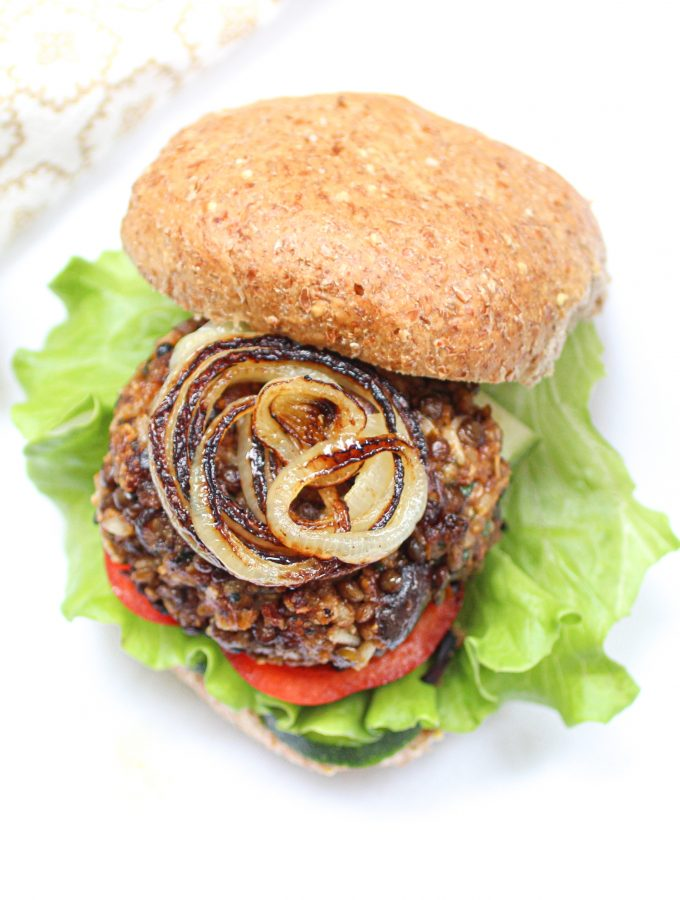 Lentil Brown Rice Burger