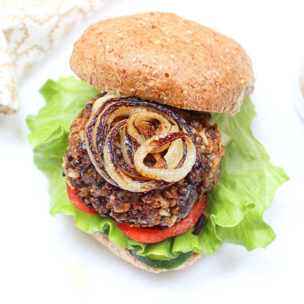 Lentil Brown Rice Burger