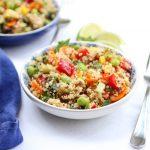 A bowl of quinoa salad