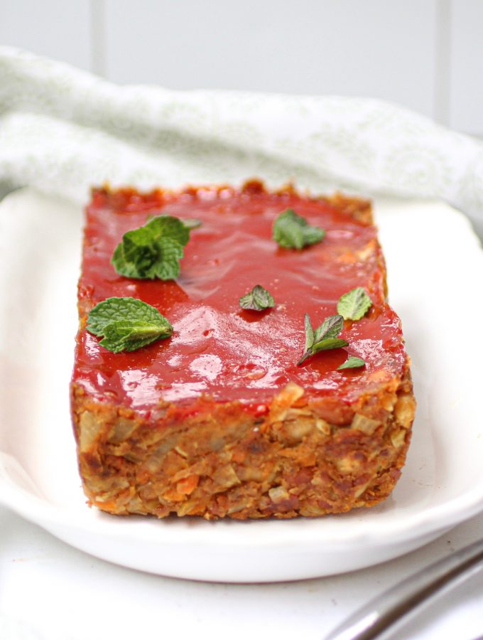 a delicious vegan meatloaf