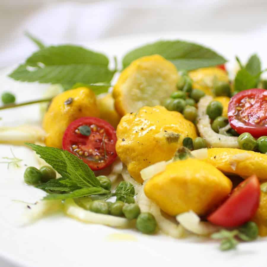 Patty Pan Squash Salad