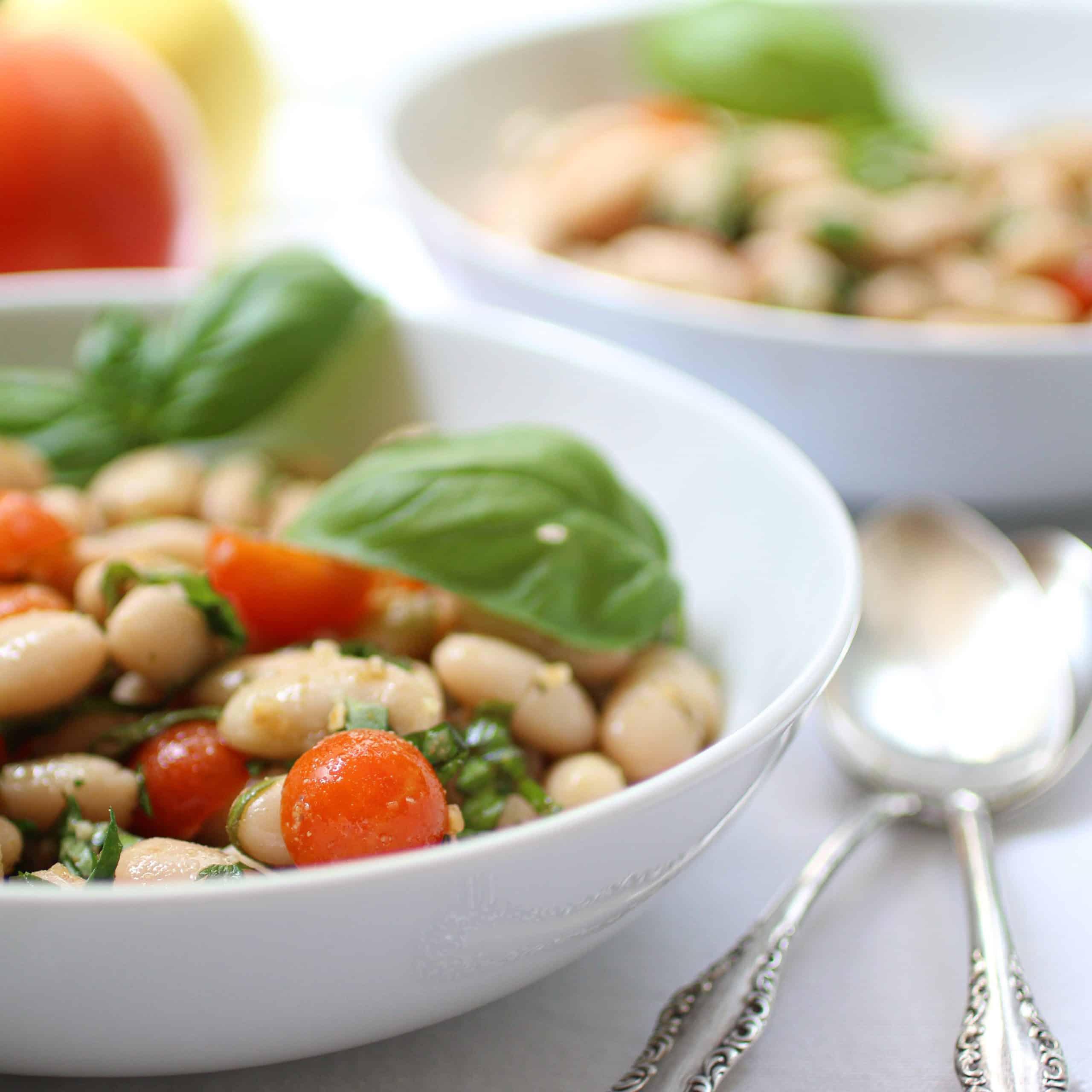 Easy White Bean Salad - Oil Free!