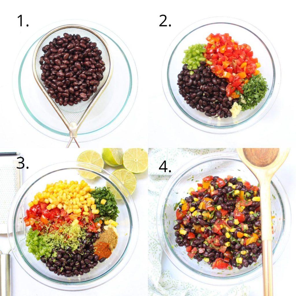black bean salsa how to
