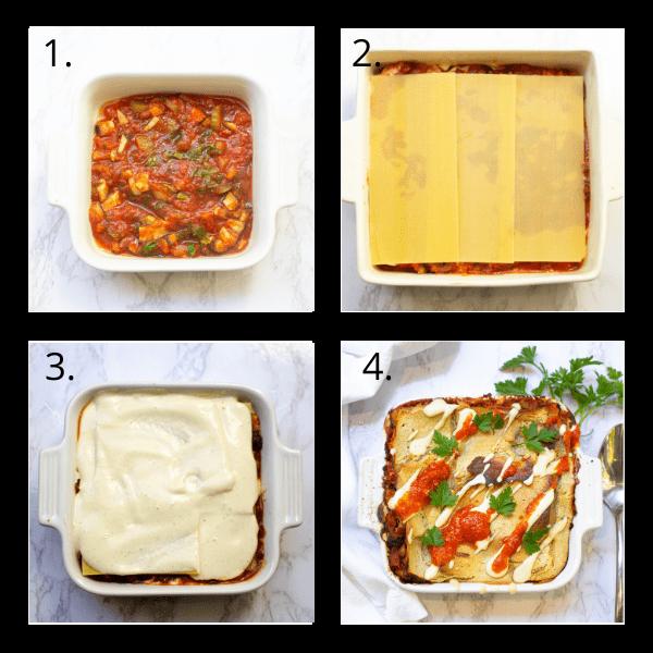 Steps to make the best vegan lasagne