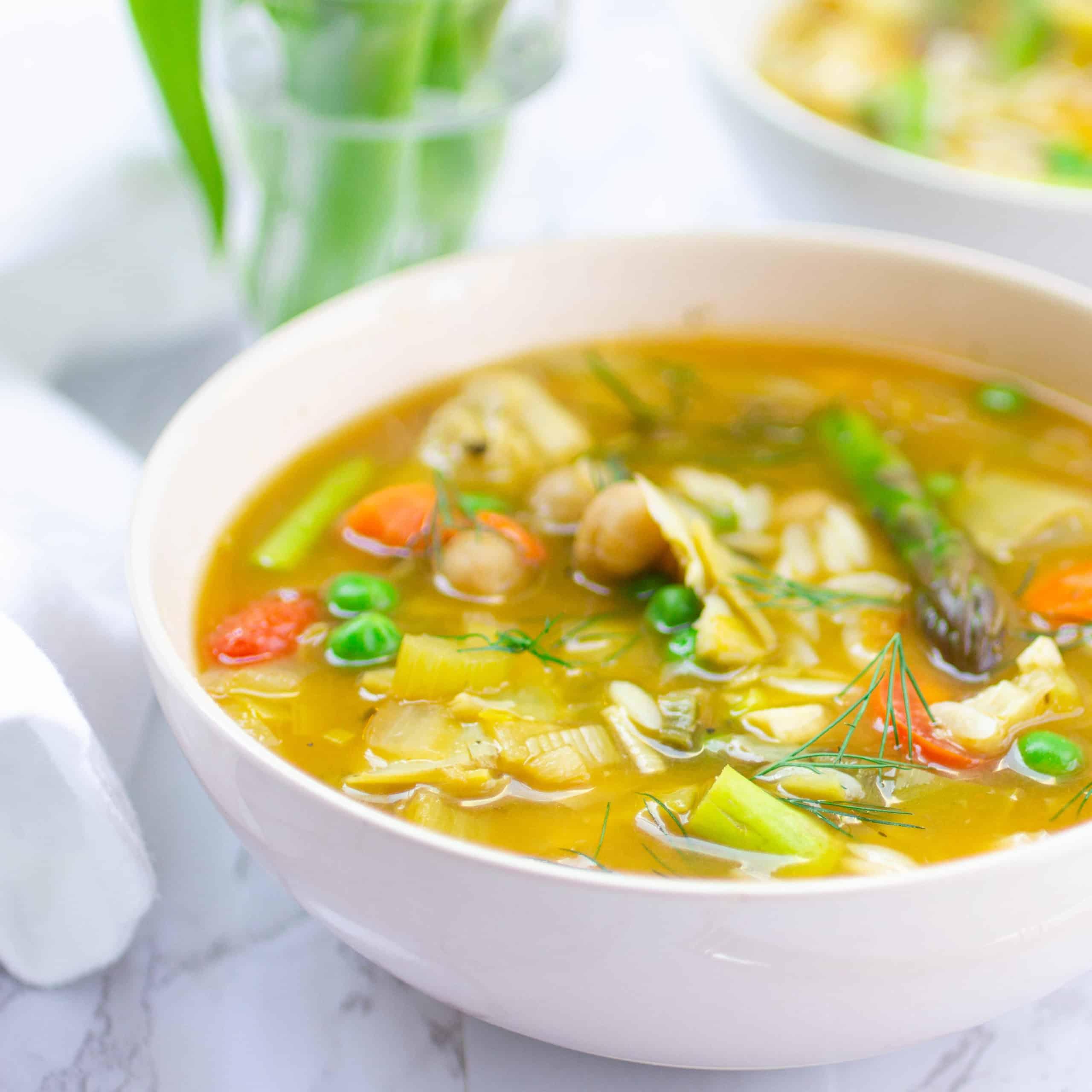 Lemony Minestrone Soup
